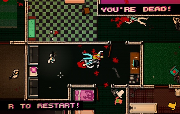 Hotline Miami restart screen