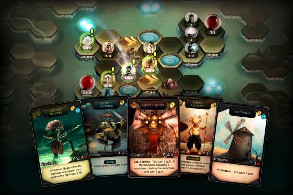 Faeria hand of cards